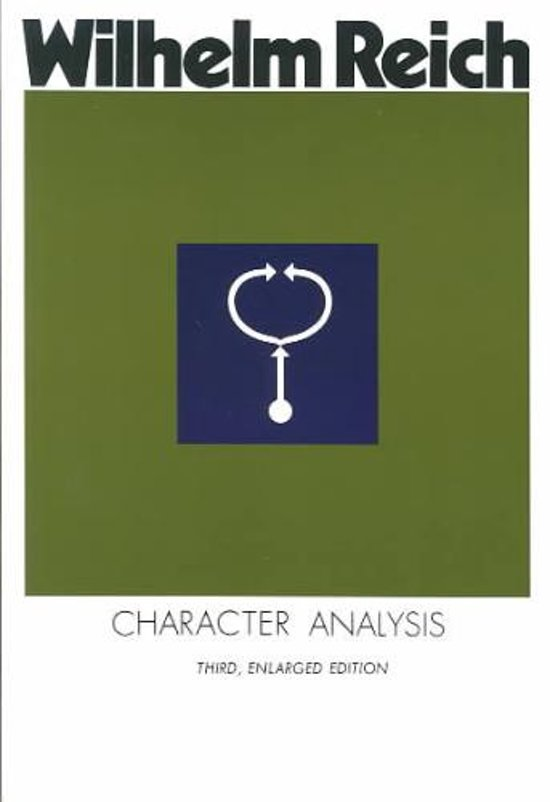 REICH, WILHELM. - Character Analysis. Third, Enlarged Edition. isbn 9780374509804