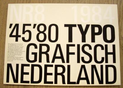 JONGEJANS, CHARLES. - '45/'80 typografisch Nederland.