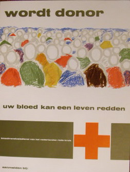 ROELOFSMA, TON (ONTWERP). - Wordt donor. U bloed kan een leven redden.